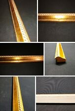 Picture Frame Molding (Antique Gold Finish) 4 Wood sticks of 4.5ft. 18 ft total.