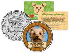 YORKSHIRE TERRIER Dog JFK Kennedy Half Dollar US Colorized Coin