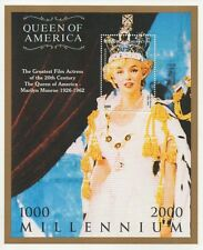 MARILYN MONROE QUEEN OF AMERICA MOVIE ICON 2000 MNH STAMP SHEETLET