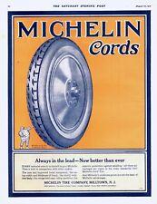 Michelin Cords  -  Michelin Tire Company, Milltown, N. J.  - 1921 Original Ad