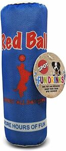 """Spot Ethical Red Ball Canvas Fun Food Dog Toy 8.5"""" Funny toy With Squeaker"""