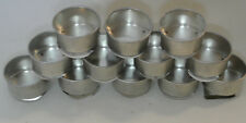 """12 Metal Palette Cups w/bottom clip for Palette: 2"""" Diameter New-made in Japan"""