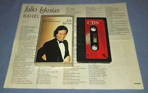 JULIO IGLESIAS 1100 BEL AIR PLACE PAPER LABELS cassette tape album A0838
