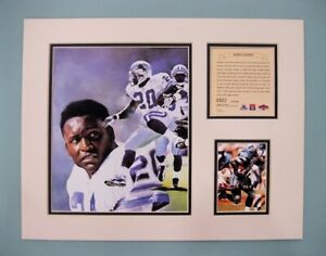 Detroit Lions Barry Sanders 1997 NFL Football 11x14 MATTED Kelly Russell Print