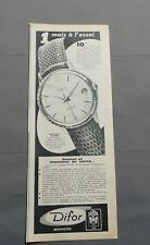 PUB PUBLICITE ANCIENNE ADVERT CLIPPING 040617 MONTRE 5044 DATE AUTOMATIQUE DIFOR