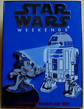 Walt Disney World Pin * Star Wars Weekend 2001 * Sorcerer Mickey & R2-D2 LE 6000