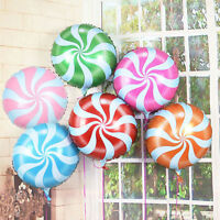 18 inches Lollipops Peppermint Candy Swirl Birthday Party Decoration Balloons