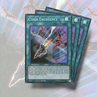 CYBER EMERGENCY x3 | Super Rare 1st Edition Genesis Impact GEIM-EN042 YuGiOh