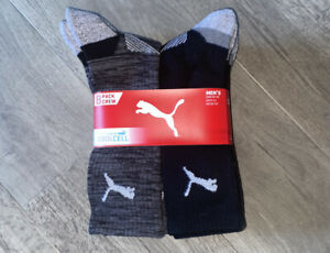 PUMA Men's Cool Cell Socks, 8 Pack Crew - Size UK 9-11, Brand New In Packet