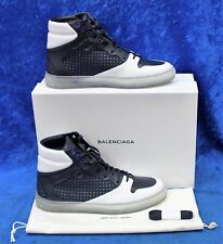 8c22cb7af6fd4 Men s Authentic Balenciaga Navy Blue White Size 11.5 High Top Leather  Sneakers