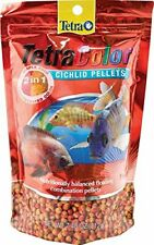 TETRA - TetraColor 2-in-1 X-Large Cichlid Food Pellets - 7.48 oz. (212 g)