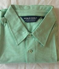NWOT POLO GOLF RALPH LAUREN PIMA COTTON  STRIPE POLO GREEN / WHITE XL