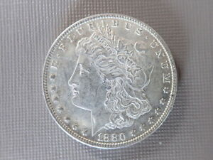 1880 O Morgan Silver Dollar circulated uncertified