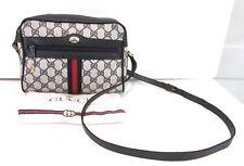 Authentic Vintage GUCCI Web Messenger Crossbody Shoulder Bag Handbag Purse