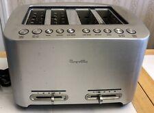 Breville Bta840Xl Wide 4-Slice Smart Bagel Toaster Stainless Steel 1800 Watts