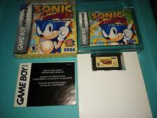 SONIC The Hedgehog GENESIS (Nintendo Game boy Advance) Complete +BONUS PROTECTOR