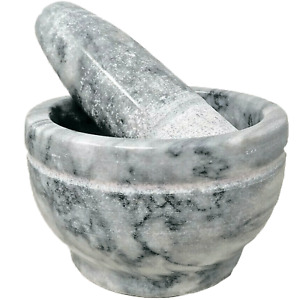 Genuine Himalayan, Marble Pestle and Mortar, 12 X 7 cm , WT, 1.6 KG