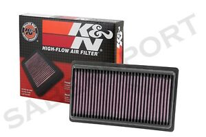 Two K&N 33-5014 Hi-Flow Air Intake Drop in Filter for 2014-2018 Infiniti Q50 3.5