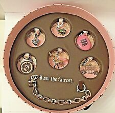 JUICY COUTURE I AM THE FAIREST PRINCESS BRACELET 6 CHARMS PICTURE LOCKET NW $138