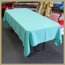 "Tablecloth Rectangle 58"" X 108"" Poly Poplin / Polyester / Gabardine Aqua 344"