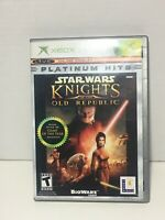 Star Wars Knights of the Old Republic XBox Platinum Hits Edition COMPLETE