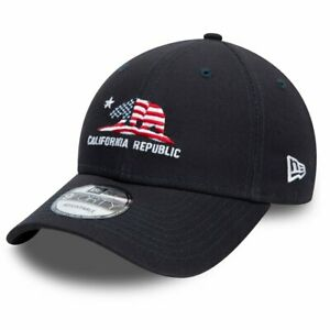New Era 9Forty Strapback Cap - CALIFORNIA REPUBLIC navy