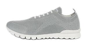 KITON SNEAKERS SHOES light grey cotton textile extra-luxury Italy 45 us 12