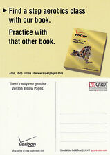 VERIZON YELLOW PAGES UNUSED ADVERTISING COLOUR  POSTCARD (d)