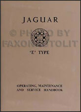 1961 1962 1963 1964 Jaguar XKE Owners Manual 3.8 XK-E Type Operating Handbook