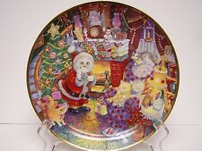 Not A Creature Was Purring Franklin Mink Collectible Cat 8 Inch Plate Christmas