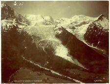 Photo Auguste Couttet - Glacier des Bossons et le Mont Blanc - Tirage 1890 -