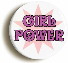 GIRL POWER RETRO NINETIES BADGE BUTTON PIN (Size is 2inch / 50mm diameter) 1990s
