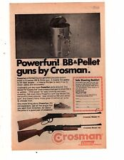 1980's comic book PRINT AD, CROSMAN powerful bb pellet gun  crossman airgun