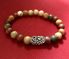 Natural Jasper Gemstone Beaded Bracelet Jewelry