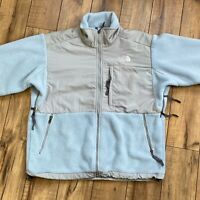 The North Face Women's Large Baby Blue / Gray Denali Fleece Jacket style A194