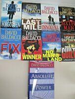 Lot of 9 Paperback Books By David Baldacci Amos Decker