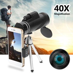 40X Optical Monocular Zoom Universal HD Telescope Camera Lens For Mobile  *