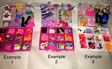 Mattel Barbie Accessories 50+pcs with Organizer ~ Shoes, Jewelry, Hats  & More