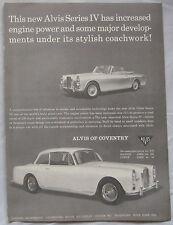 1966 Alvis series IV Saloon & Coupe Original advert
