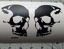 Skull helmet, (2) Skateboard decals Skull#3 Motorcycle helmet decals, Sticker