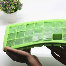 Soft Ice Cube Plateau Silicone Bac à Glaçons Portion Boîte de Congélation Vert