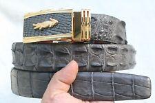 Unjointed - Gray Real Crocodile Belt SKIN Leather Men's - W 1.3 inch
