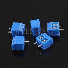 5pc 2 poles/2 Pin 5mm 2way straight PCB Universal Screw Terminal Block Connector