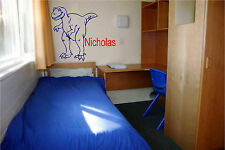 T-Rex Dinosaur and Personalized Name Wall Sticker Wall Art Decor Vinyl Decal