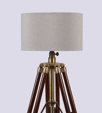 European Style Nautical Floor Lamp With Brown Finish