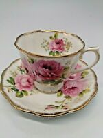"Royal Albert Bone China Cup & Saucer ""American Beauty"""