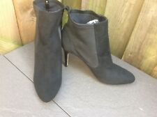 NEW PAUL COSTELLOE LADIES BLACK HIGH HEELED SUEDE PULL ON ANKLE BOOTS UK8/EUR42