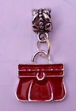 NEW Red Fashion Purse Charm with Europeon Bracelet Slider