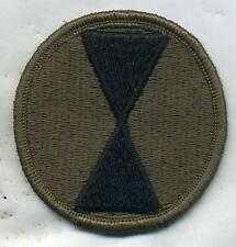 Vietnam Era US Army 7th Infantry Division OD Subdued Patch