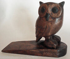 DOOR STOPPER - WOODEN OWL DOOR STOP - WOODEN OWL DOORSTOP